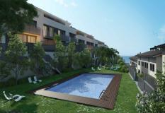Casa en venta en Teià. Casa de nueva promoción con piscina comunitaria en