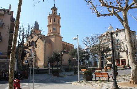 Plaza de la Iglesia de Arenys de Mar