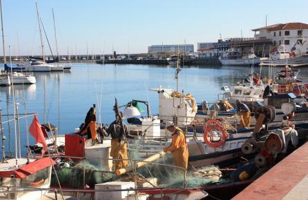 Puerto de pescadores de Arenys de Mar