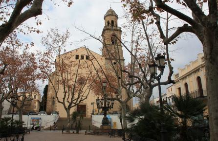 Plaza de la Iglesia de Canet de Mar