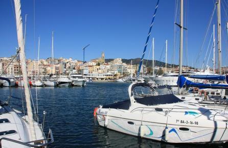 Vista del Masnou des del port esportiu