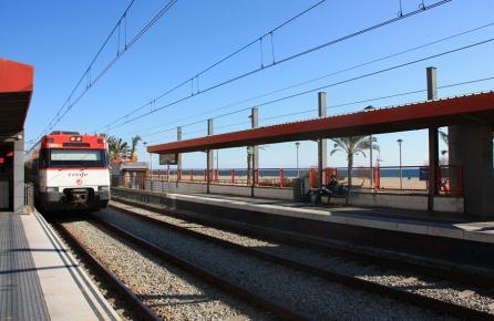 Estación de tren de Ocata en el Masnou