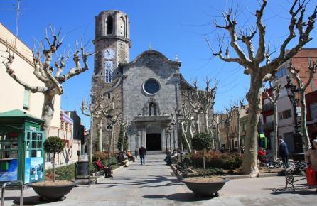 Plaça de l'Església de Malgrat de Mar