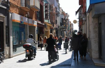 Carrer al centre urbà de Malgrat de Mar