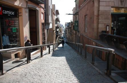 Calle del centro de Mataró