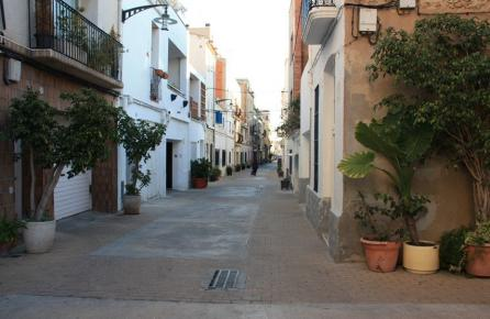 Calle en el barrio antiguo de Montgat