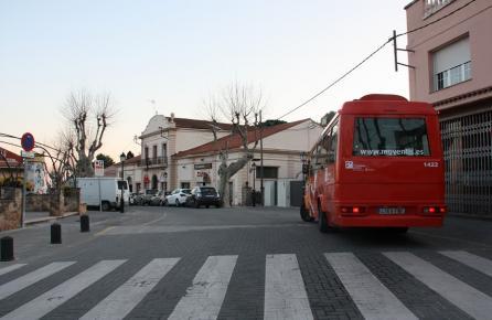 Calle en el centro urbano de Premià de Dalt