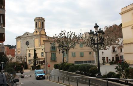 Vista de l'Església de sant Andreu de Llavaneres