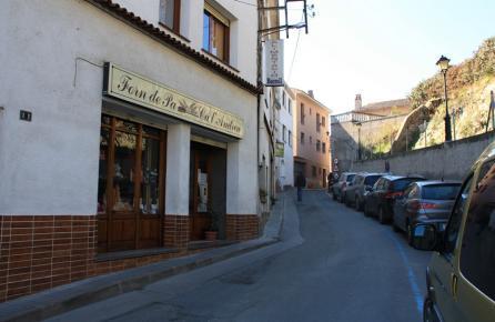 Carrer al centre urbà de Sant Cebrià de Vallalta