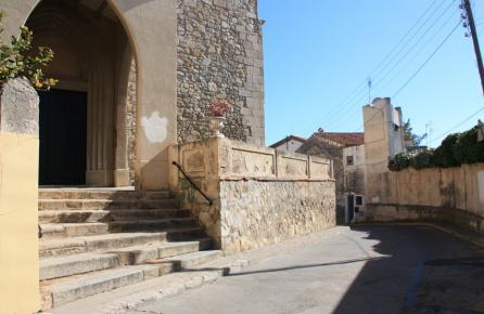 Entrada de l'Església de Sant Pol de Mar