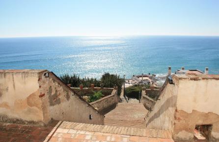 Vista des de l'Església de Sant Pau a Sant Pol de Mar