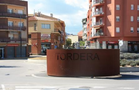 Entrada a la población de Tordera