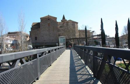 Pont damunt el riu Tordera.