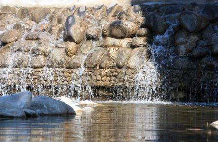 Fuentes en el rio Tordera