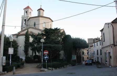 Carrer al centre urbà de Vilassar de Dalt